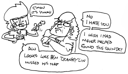 ben franklin hates oats